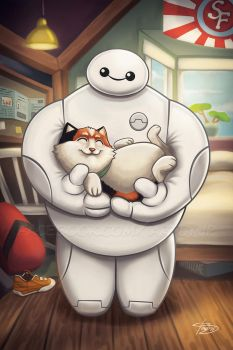 Baymax - Hairy Baby by jpzilla