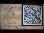 Pokemon Omega Ruby - My Super Secret Base QR Code by 13paulis