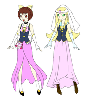 Gift- Christine and Dresella in Precure style by Supremechaos918
