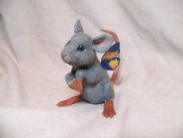 'moss'  ooak fairy mouse by AmandaKathryn