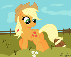 Applejack Football by iamthemanwithglasses