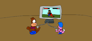 Sandy and Sheila Playing a Video Game by LuciferTheShort