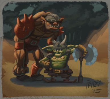 Goblins up to no good by Pfitzy
