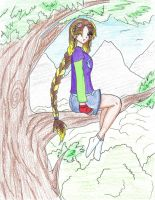 Akira in a tree by Corky-Lunn