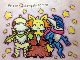 Starter Final Evolution by dengekipororo