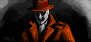 Rorschach doodle by thehotmageaeris