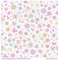 Cute Doodle Springtime Seamless Pattern by ErikDePrince