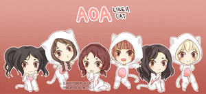 AOA: Like a Cat by sleepypandie
