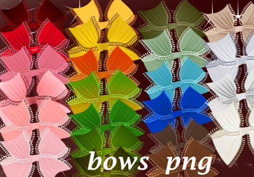 Bows Png by roula33