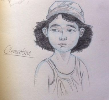 Clementine quick sketch by Mia-Oneill