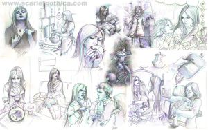 various sketches by Claudia-SG