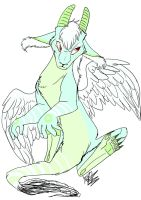Water feathered dragon adpot by TheArtyMadCow
