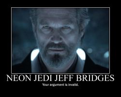 Neon Jedi Jeff Bridges by thepope1932