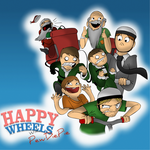 Happy Wheels With PewDiePie by PolisBil