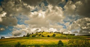 Clouds And A Hill, Panoramic Version by wulfman65