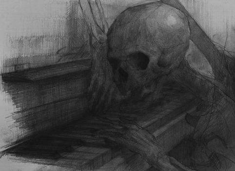 Skeleton playing piano by AC44