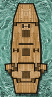 Ship- Pirate Junk- Top Decks by WhoDrewThis