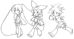 fa~ miku hatsune lineart / outline free to color by lolimayu on ... - Hatsune Miku Chibi Coloring Pages