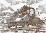 The Battle of Hampton Roads by Radomski
