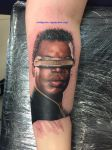 Geordi LaForge portrait tattoo by samisox