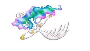 Princess Celestia awesomeness by Aru3000