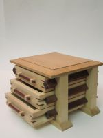 Pagoda box of Bloodwood and Maple by DMSscroller