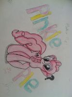 Pinkie Pie - Colored Pencil '?' by Zilford-the-legend