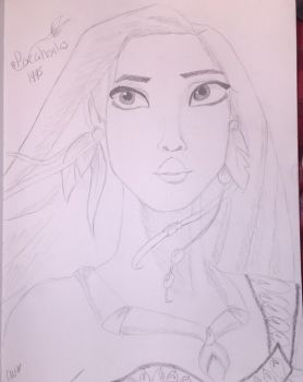 Pocahontas (Pencil) by QueenofHearts73