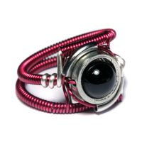 Magenta cyberpunk Ring by CatherinetteRings