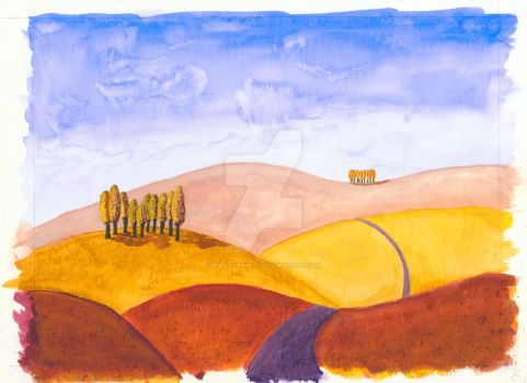 Tuscany Hills Autumn by silvastrings