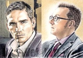 Person of Interest sketchcards by whu-wei
