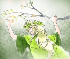 Thranduil and a branch by h-muroto