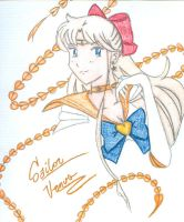 Sailor Venus colored by Amaethil