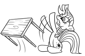 Twilight table flip outline by Dori-to