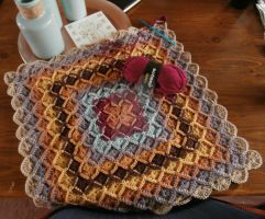 Wooleater coverlet, WIP by Schleichgirl1976