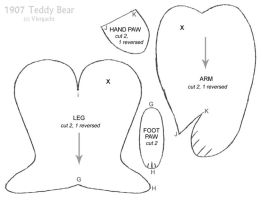 1907 Teddy Bear pattern 2 by Viergacht