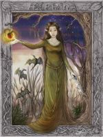 Lady of the Faery Wood - COLOR by ValkAngie
