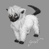 Absol Pup by GosieXvelLipa