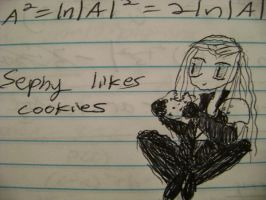 Sephiroth loves his cookies by cyberelf2029
