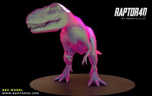 Raptor 4d Free REX Model For Cinema4D by Industrykidz