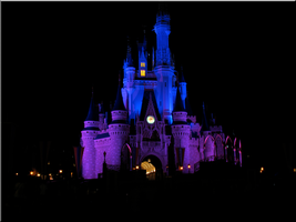 Castle at Night - Blue+ Purple by WDWParksGal
