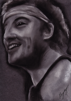 Bruce Springsteen Speed Draw by RayrayDesigns