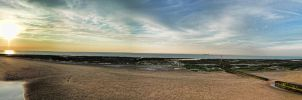 Panoramic sea and sand by OPrwtos