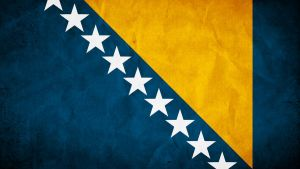 Bosnia and Herzegowina Grunge Flag by SyNDiKaTa-NP