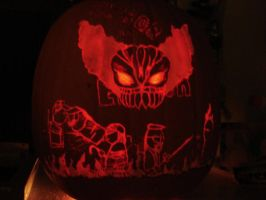 Madness Combat Pumpkin by RebelATS