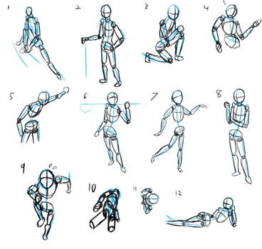 Perspective and pose exercises by jayemjee