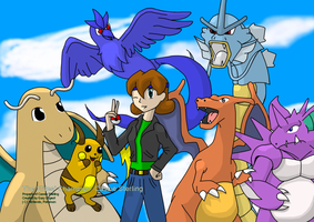 Cassie and her Pokemon by Garico