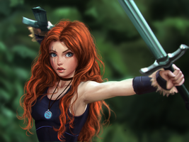 celtic warrior princess by ChrisKimArt