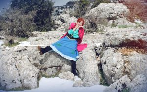 Anna from Frozen Cosplay by MissWeirdCat