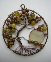 Twisted Green Tree of Life with Moon *SOLD* by RachaelsWireGarden